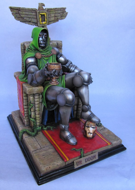 Dr Doom on throne 1/6.