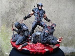 Wolverine vs Ninjas