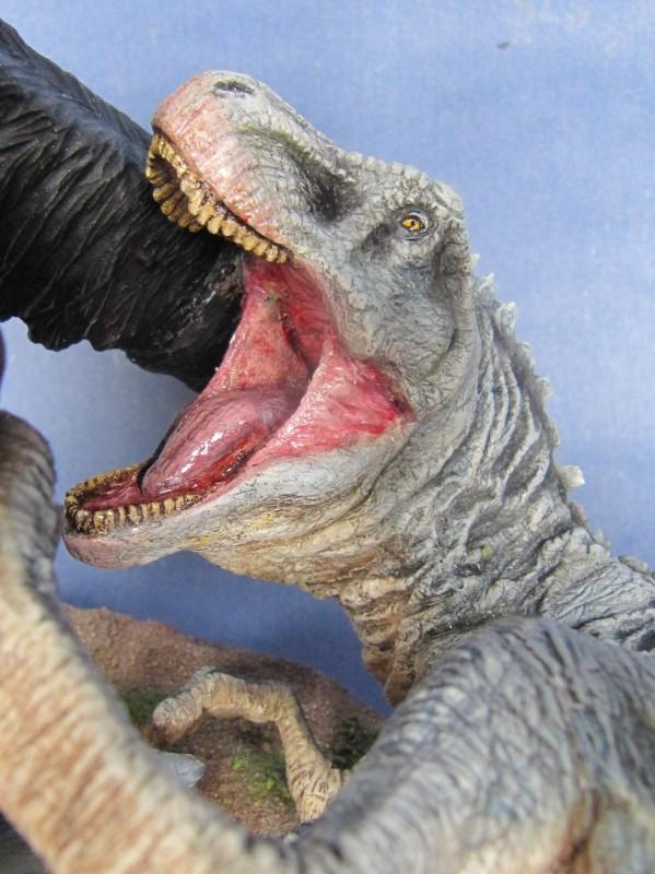 Diorama Kong vs T.Rex.