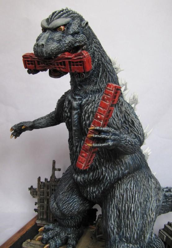 Diorama Godzilla.