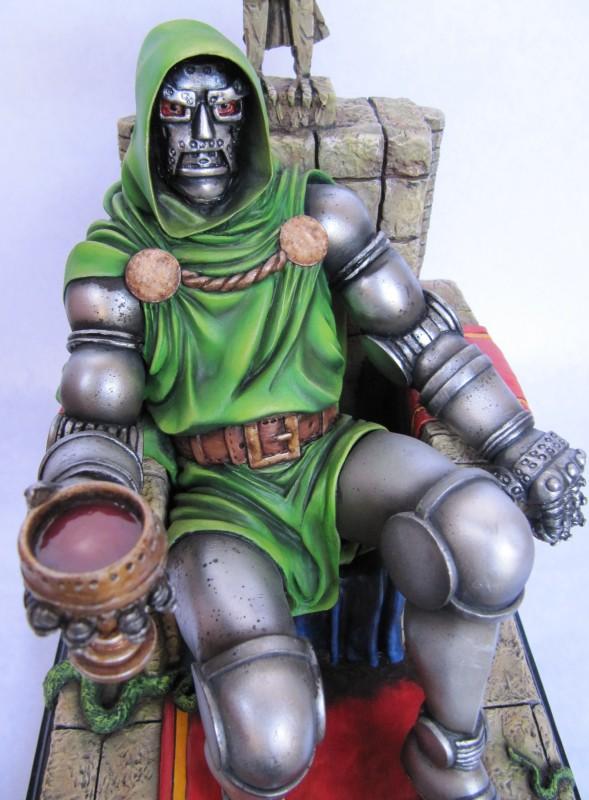 Dr Doom on throne 1/6.