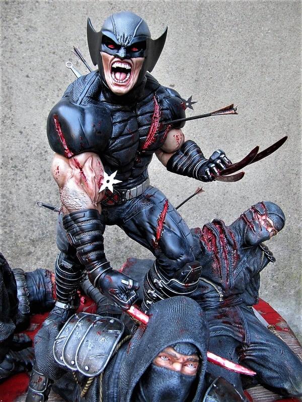 Wolverine Vs Ninjas 1/4.